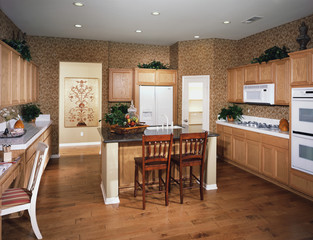 Traditional Kitchen with White Appliances