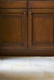Kitchen Cabinet with Stone Floor