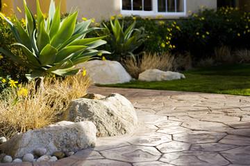 Stone Walkway to Door of House