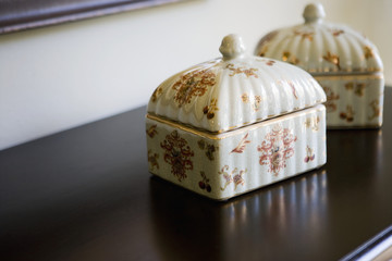 Pair of Ceramic Jewely Boxes