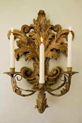 Ornate Sconce with Candles