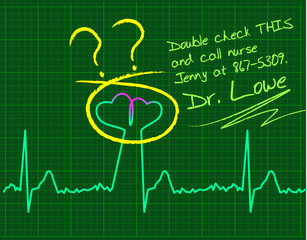 Love-cardiology concept.