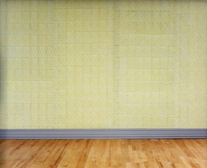 Patterned Yellow Wallpaper