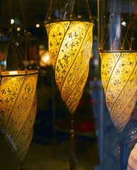 Pendant Lights with Tasseled Cone Shades