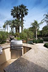 Outdoor Kitchen Area overlooking Swimming Pool