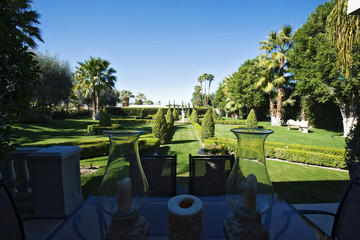 View from Patio of Traditional Garden
