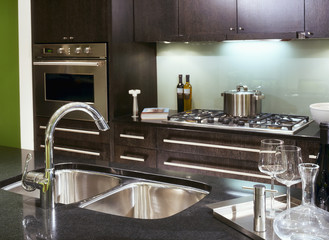 Stainless Steel Appliances in Contemporary Kitchen
