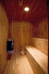 Interior of Swedish-style Sauna