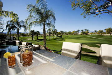 Patio by Golf Course