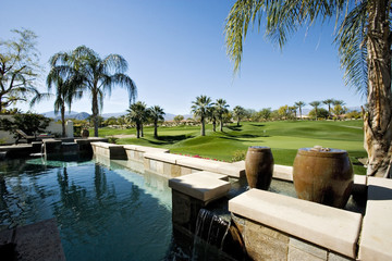 Swimming Pool by Golf Course