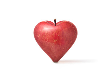 Apple of shape of heart
