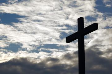 Left cross in the sky