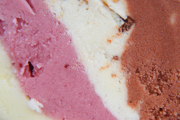 Ice-cream closeup
