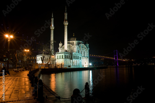 Night shot or Ortakoy Mosque, Istanbul