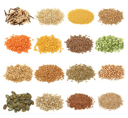 Cereal,grain and seeds collection