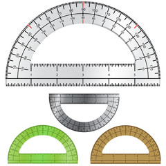 Vector set of protractors