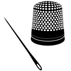 Vector needle and thimble