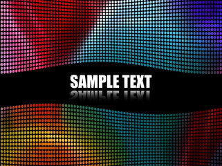 Abstract Multicolor Dots Background (Vector)