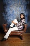 beautiful interracial woman portrait poster