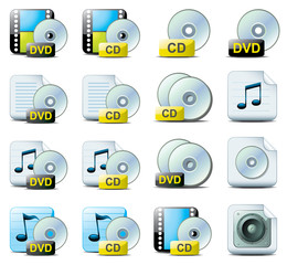 CD and DVD web icons