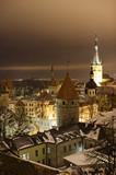 Night view of Tallinn - Fine Art prints