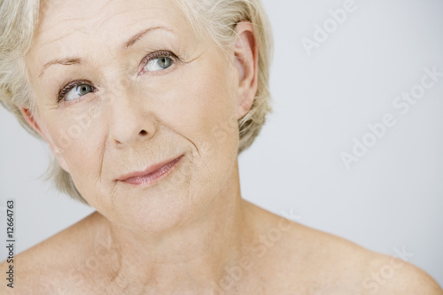 A portrait of an attractive senior woman,