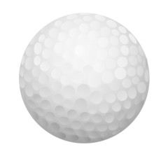 a vector illustration a golf ball