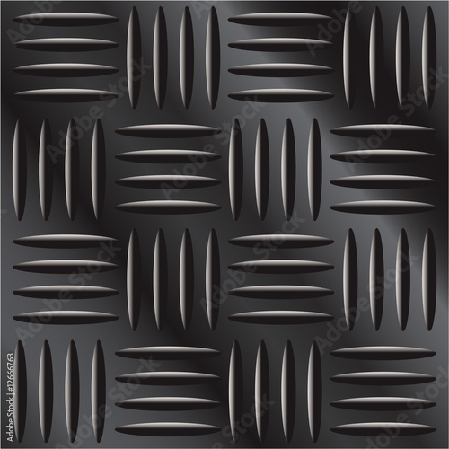 Vector illustration of dark metal crosshatch pattern