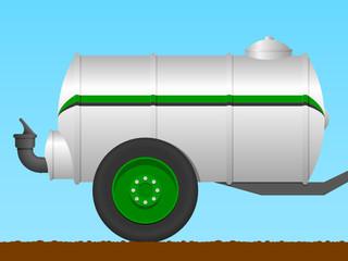 Liquid manure tanker