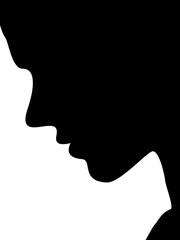 profil pensif