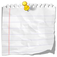 Carta e puntina-Skratched Paper-Papier et punaise