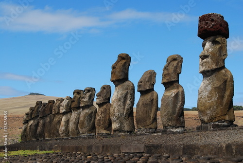 Moai on Easter Island (Rapa Nui) at Ahu Tongariki