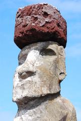 Standing Stone Moai on Easter Island (Rapa Nui)