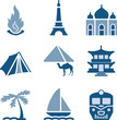 Blue icon set 22