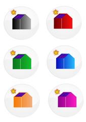 Logos de maisons à panneaux solaires