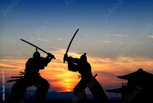 Leinwanddruck Bild Samurai