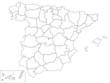 Spanien - Karte der Provinzen