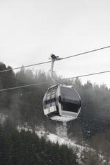gondola in italian dolomites