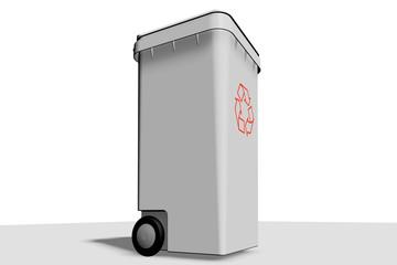 cubo reciclar gris