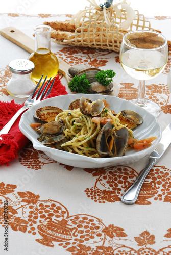 Spaghetti alle vongole - Primi piatti Canvas Print