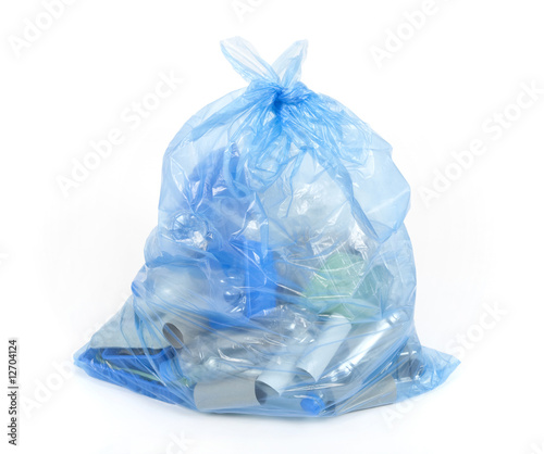 Blue recycling bag