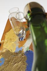 Inaugurazione di una mostra di pittura