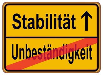 Stabilität – Unbeständigkeit