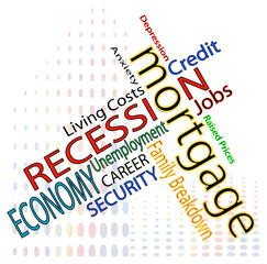 Credit crunch and recession concerns and worries