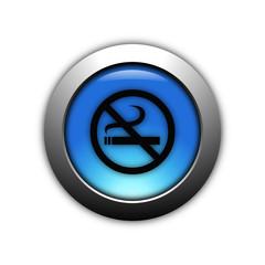aqua blue no smoking button with metalic ring
