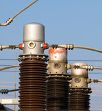 Electrical Substation Insulators poster