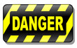 Danger Sign 3d