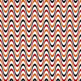 retro-wellen-muster rot-braun-schwarz poster
