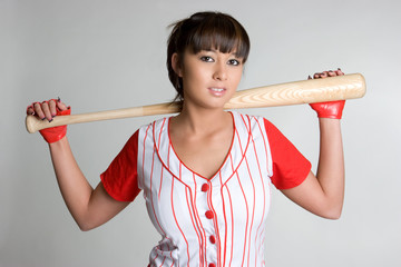 Asian Baseball Girl