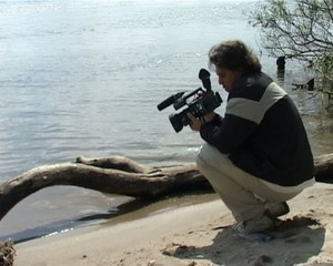 cameraman on the bank